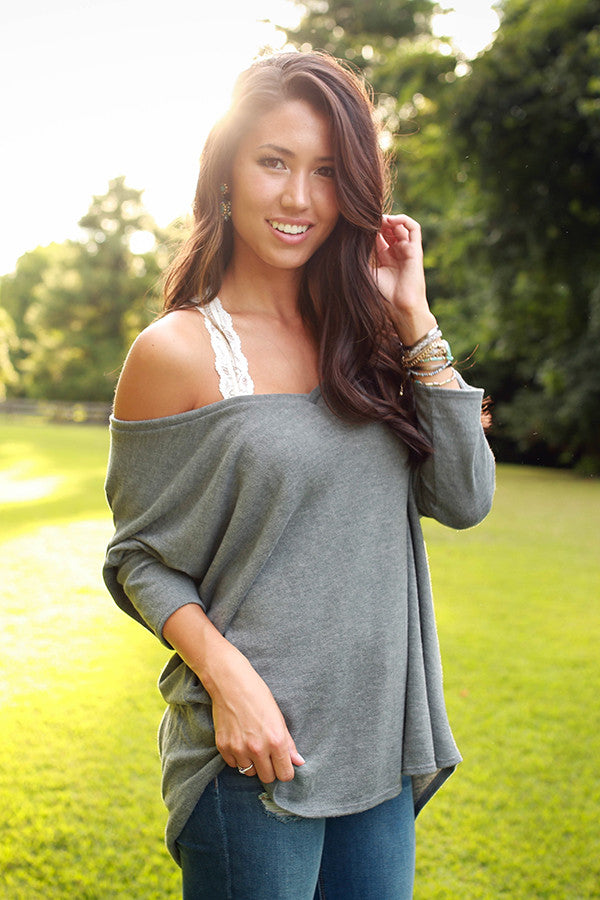 The Parker Tunic Sweater in Colorado Charcoal