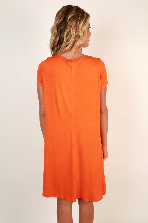 Saturday Night Lights Shift Dress In Persimmon