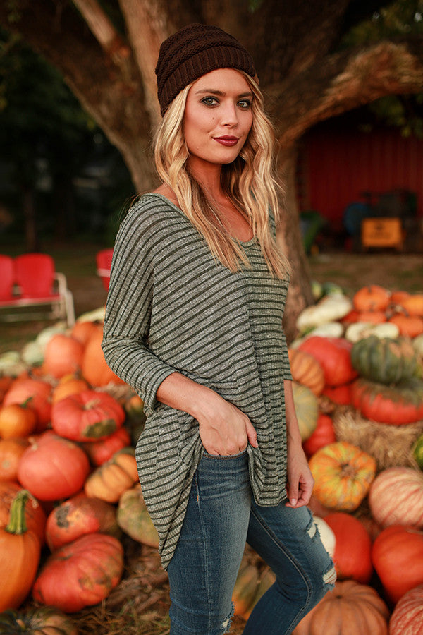 The Parker Tunic Sweater in Napa Olive
