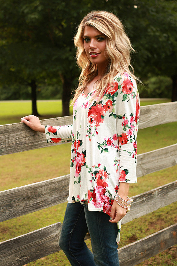 The Parker Tunic in Fireside Floral