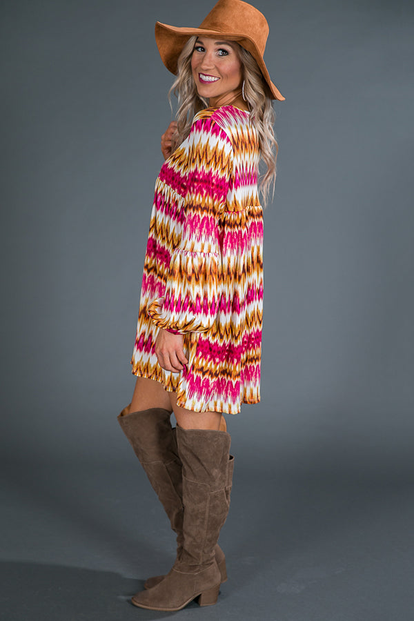 The Bella Babydoll Tunic in Sangria Sunset
