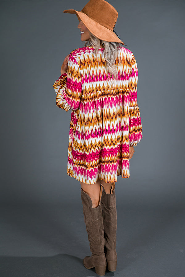 The Bella Shift Tunic in Sangria Sunset
