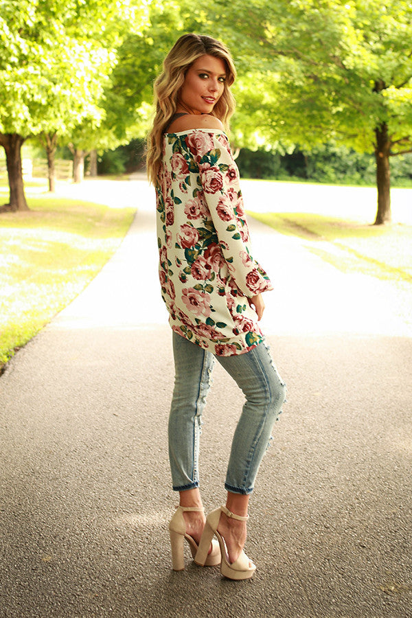 The Brooklyn Tunic in Ivory Aspen Floral
