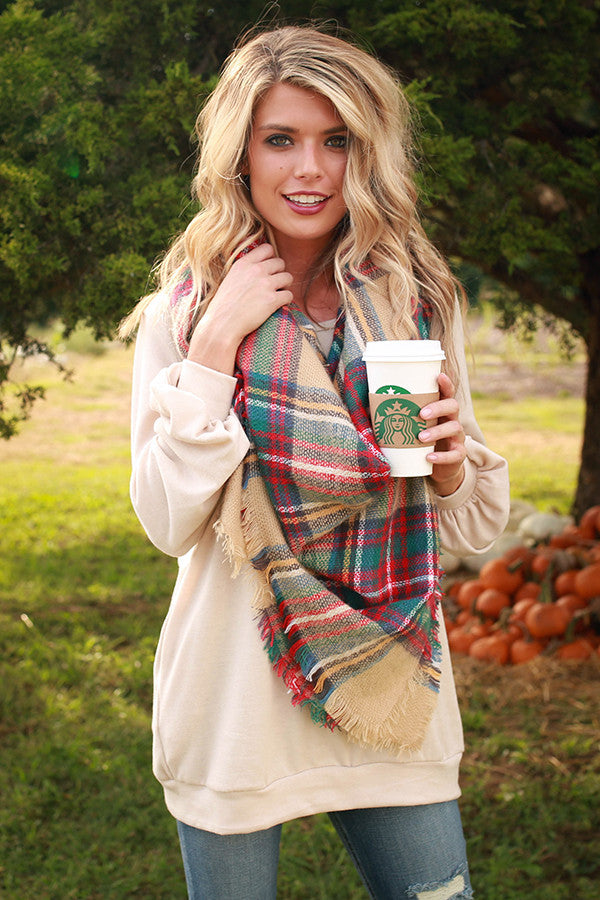 The Brooklyn Tunic Sweater in Cappuccino Cuddle