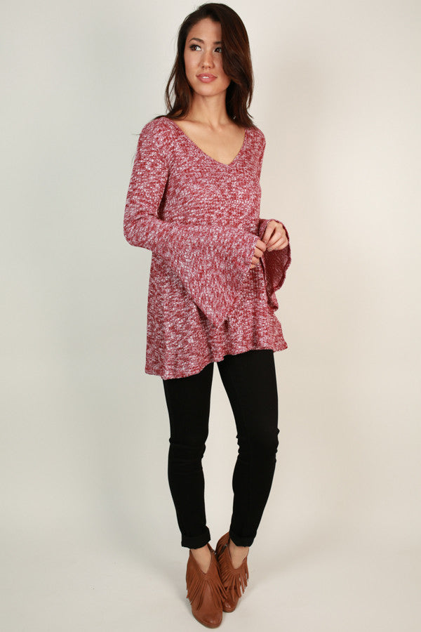 The Lively Tunic Sweater in Cabernet