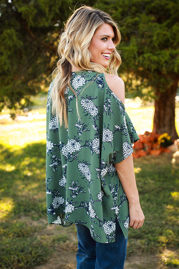 The Waverly Tunic in Rocking Sage Floral