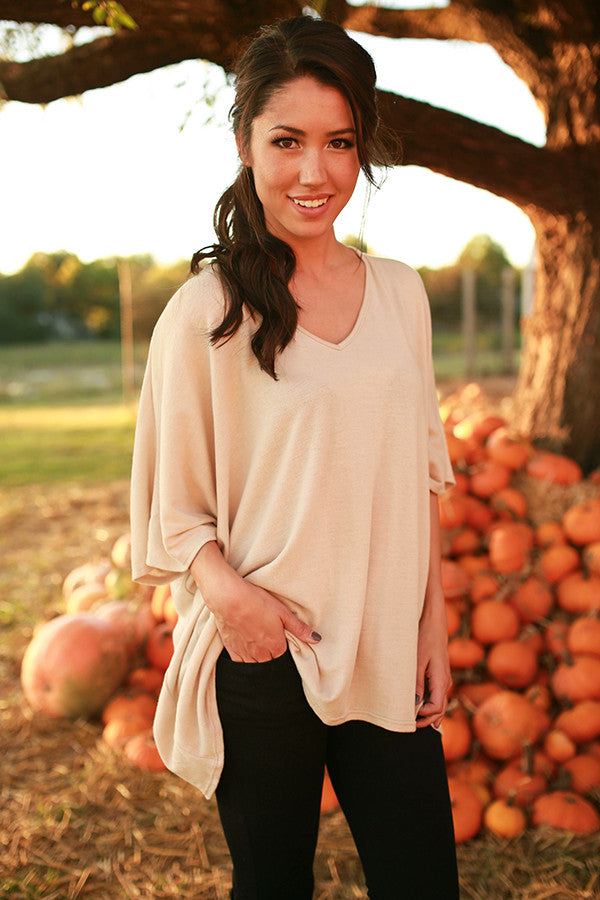 The Harper Tunic Sweater in Cappuccino Cuddle