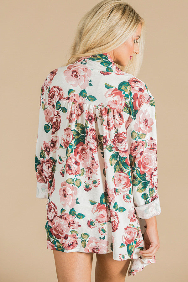 The Audrey Cardigan in Aspen Ivory Floral