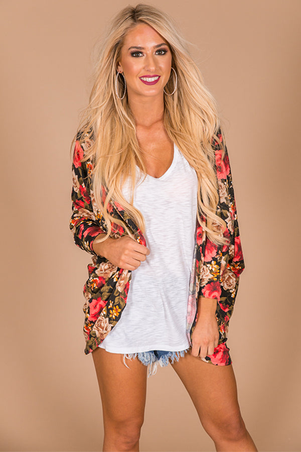 The Blakely Cardigan in Sonoma Floral