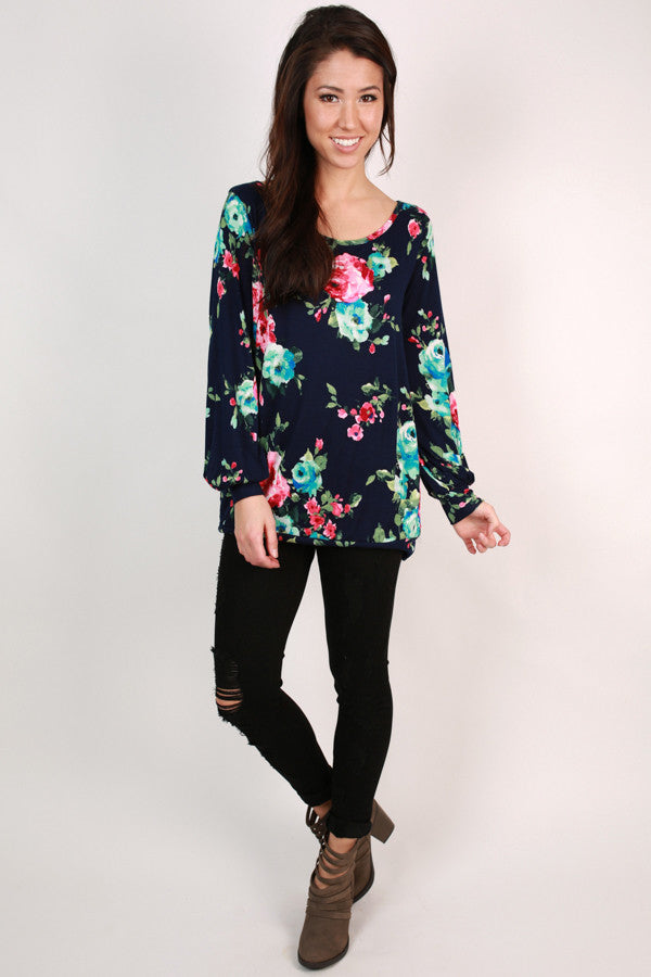 The Brooklyn Tunic in Midnight Floral