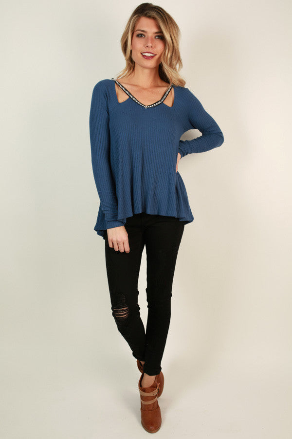 Free Spirited Cut Out Top in Riverside