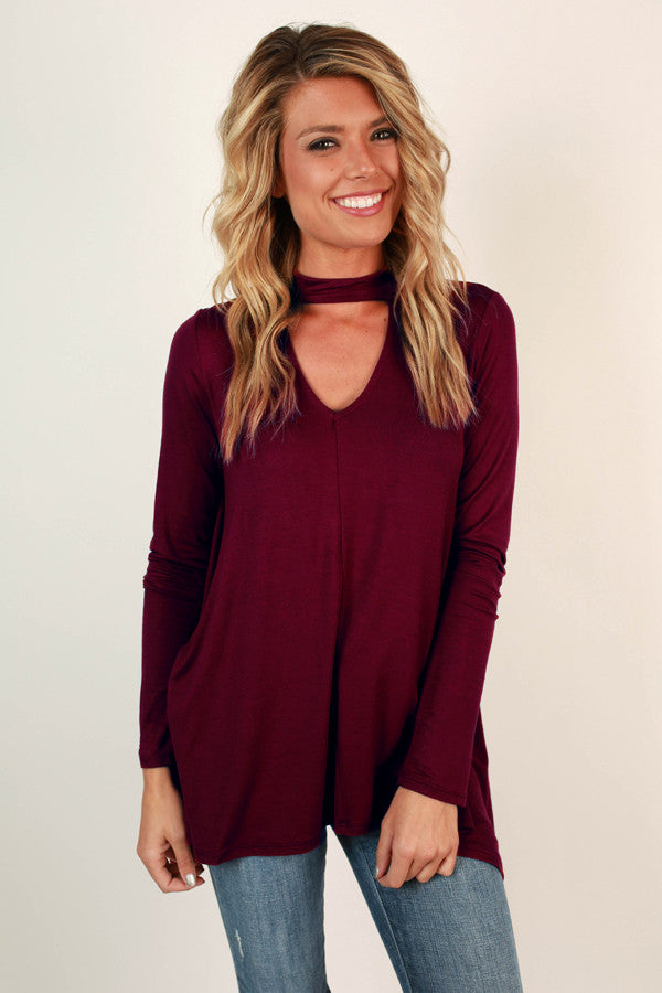 Swing On By Shift Top in Wine