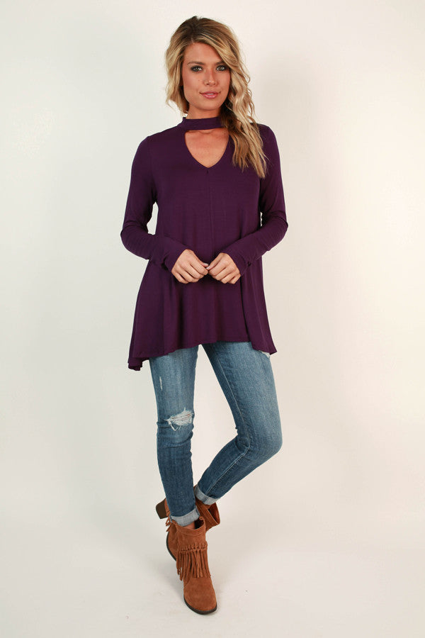 Swing On By Shift Top in Purple