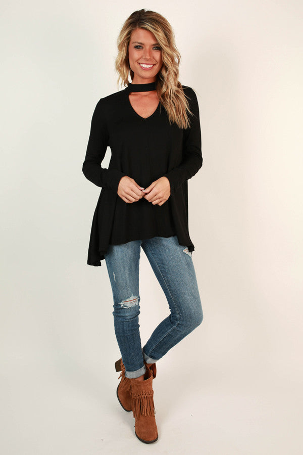 Swing On By Shift Top in Black