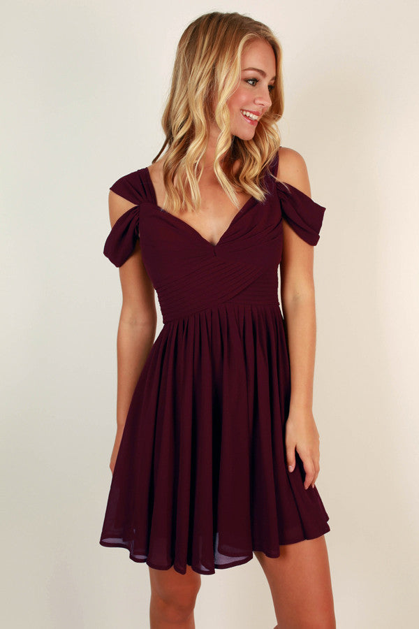 Napa Valley Outing Mini Dress In Windsor Wine