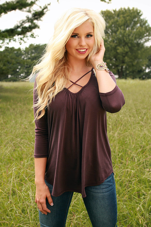 Total Adoration Shift Top in Dark Purple