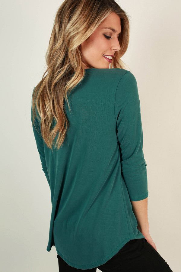 Total Adoration Shift Top in Teal