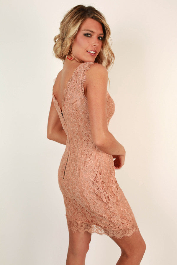 Toast To Perfection Lace Dress