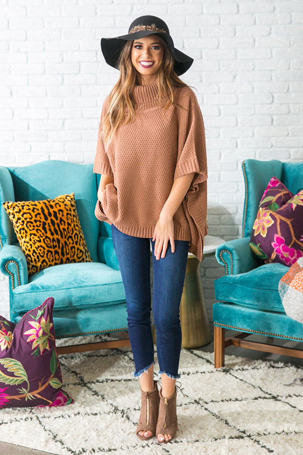Dream Date Sweater In Rustic Rose