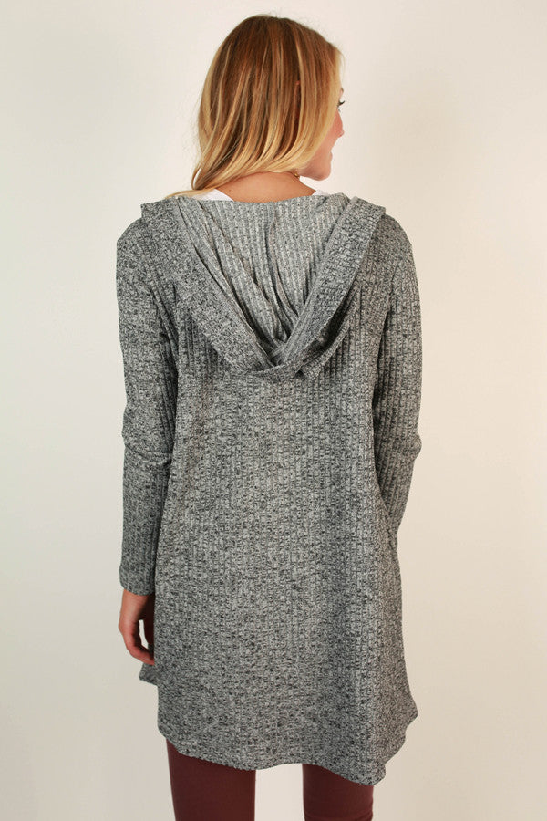 Sunday Comforts Cardi in Grey