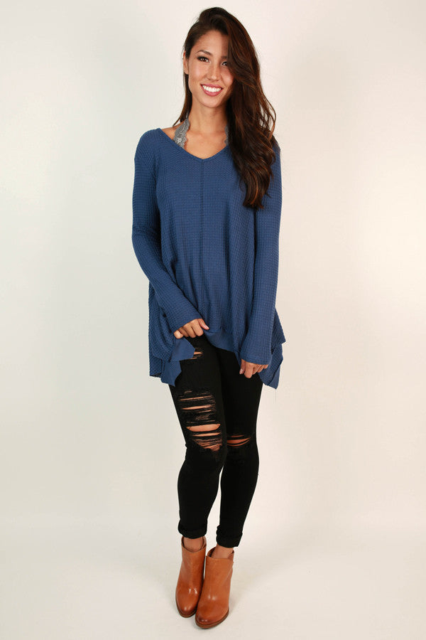 The Sweetest Thing Top In Cobalt Blue