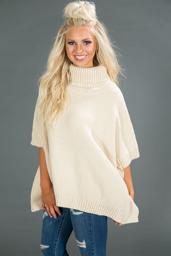 Dream Date Sweater In Cream