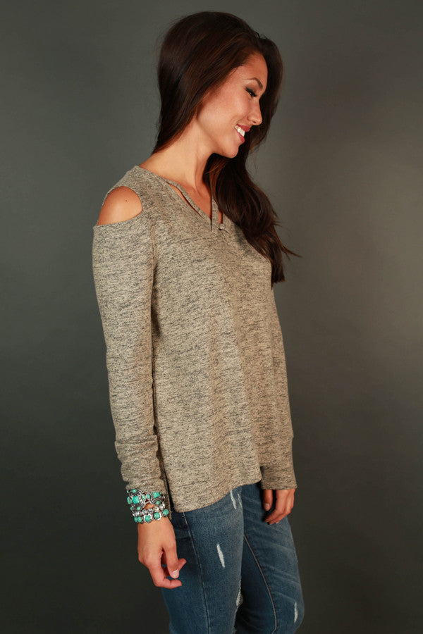 The Cold Shoulder Top In Birch