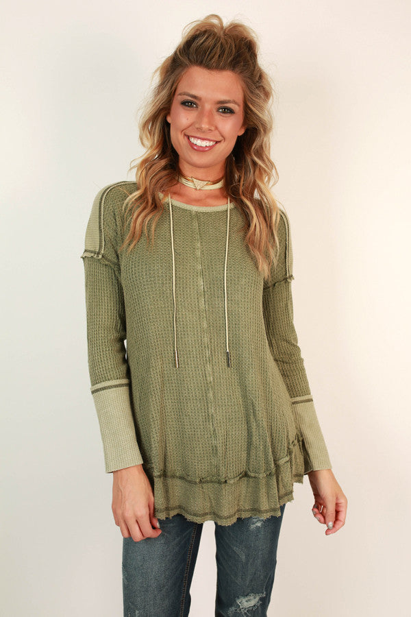 Forever Young Thermal Top in Sage