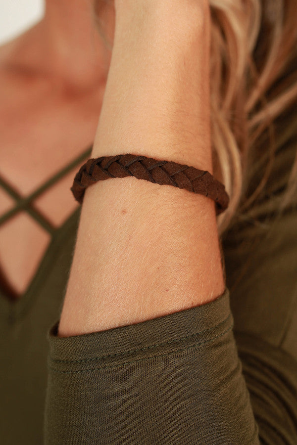 Twist and Shout Magnetic Bracelet in Brown