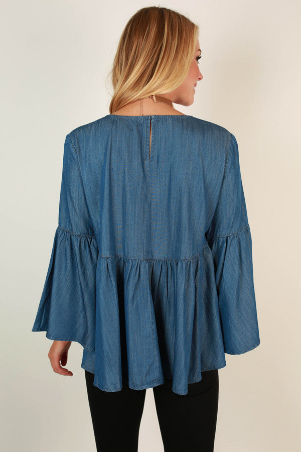 A Chambray Day Babydoll Top