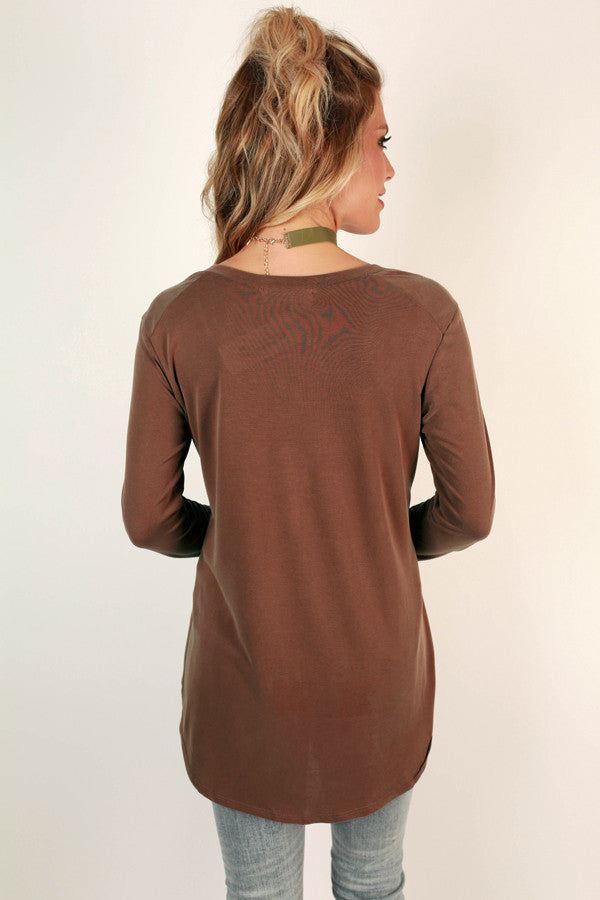 Original Beauty Top In Cinnamon