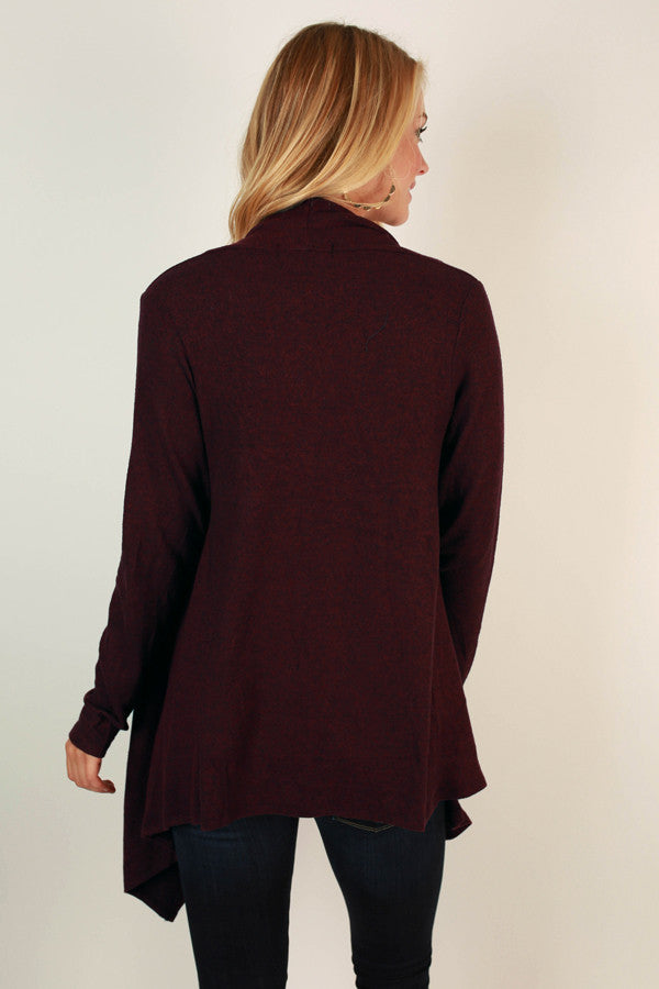 Button To Perfection Cardigan In Maroon