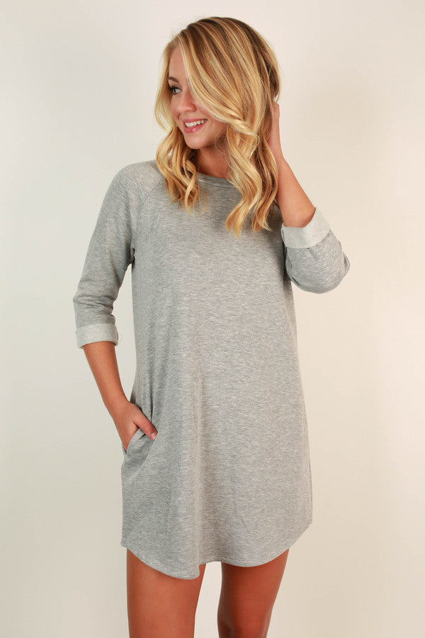 Endless Style Tunic In Grey