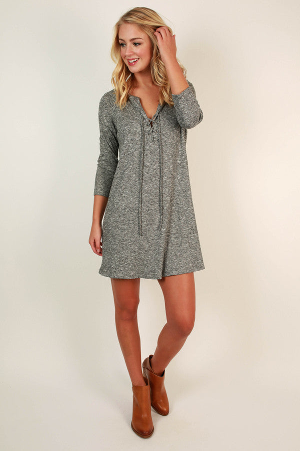 Ready Or Not Lace Up Dress