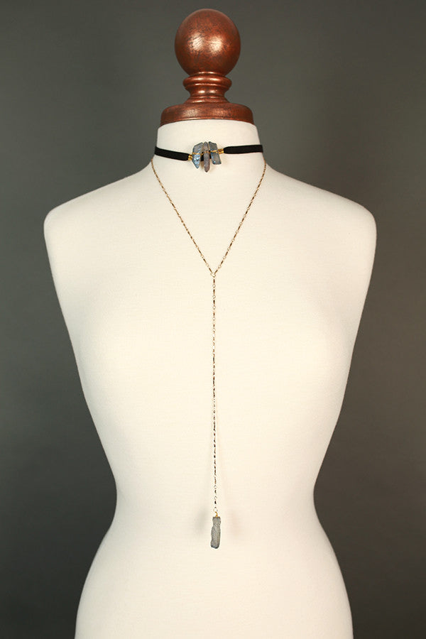 Rock and Roll Quartz Choker Necklace