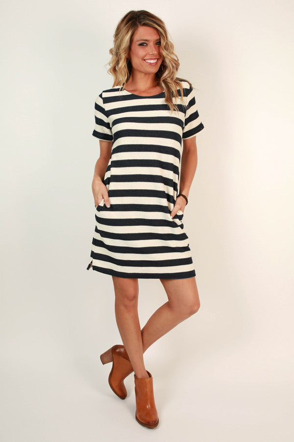 Off The Amalfi Coast Stripe Dress