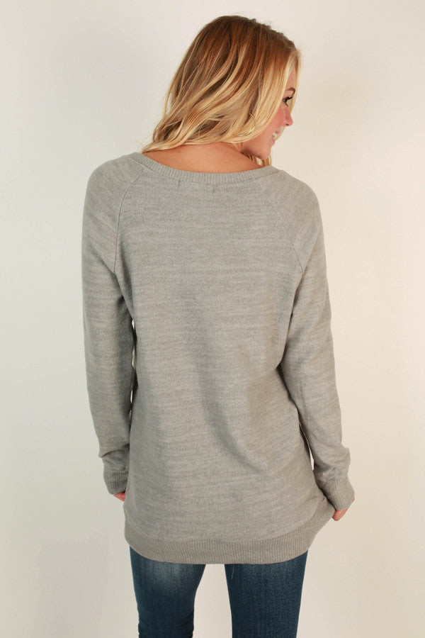 Cozy By The Fire Sweater Tunic in Grey