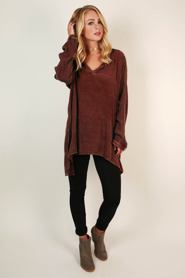 A Breezy Day Tunic Top in Rustic Rose