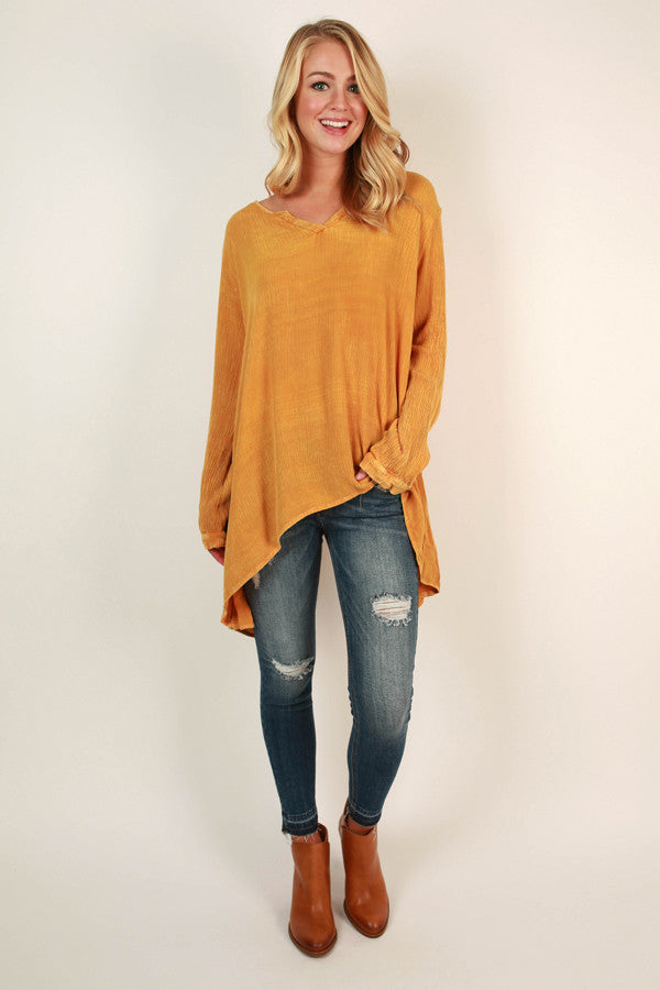 A Breezy Day Tunic Top In Tuscan Sun