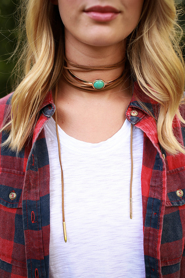 Turquoise Beauty Choker Necklace