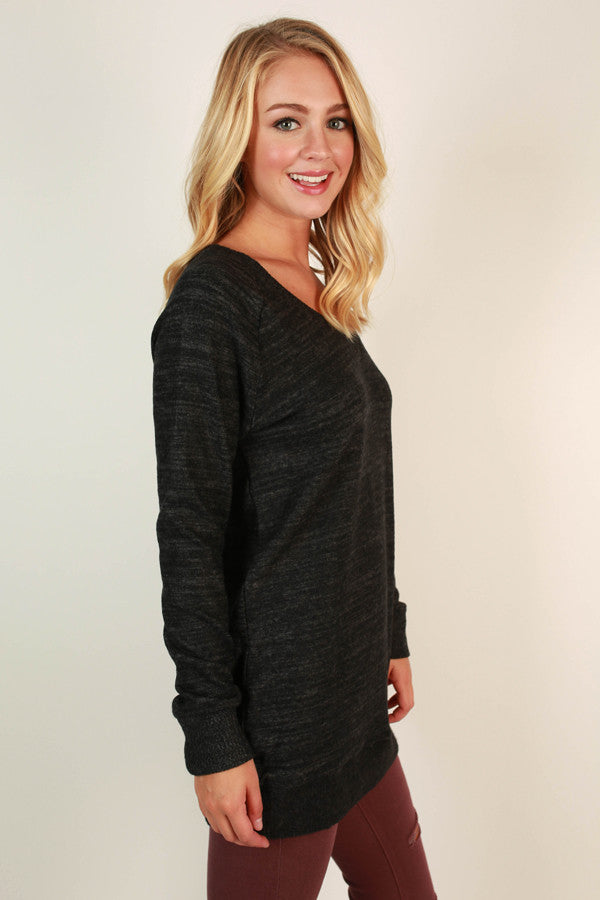 Cozy By The Fire Sweater Tunic In Black
