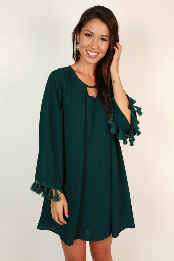 Festive Times Tassel Shift Dress