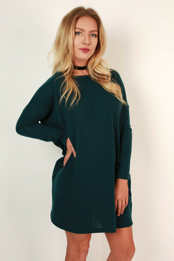 Vail Getaway Shift Dress in Teal