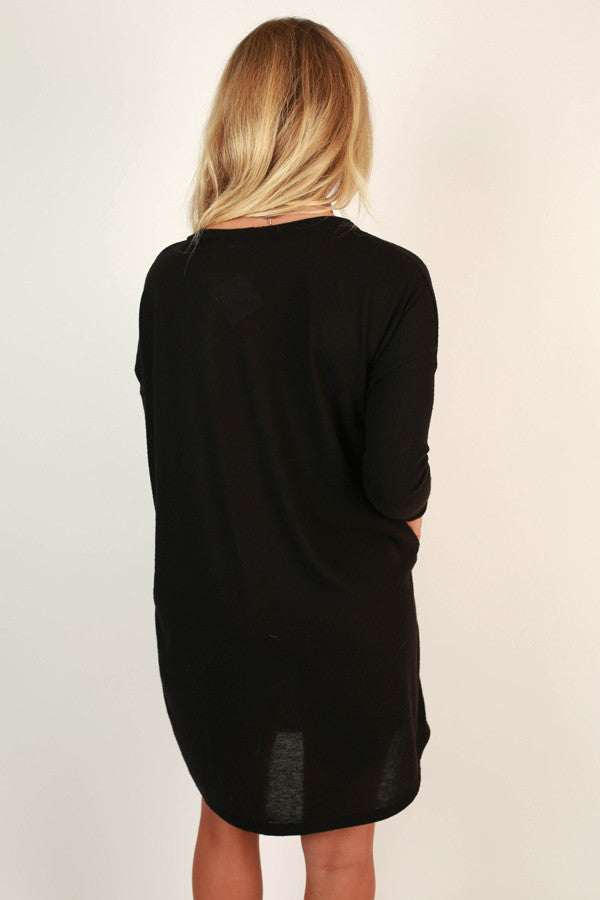 Vail Getaway Shift Dress in Black