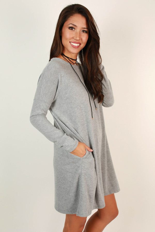 Vail Getaway Shift Dress in Grey