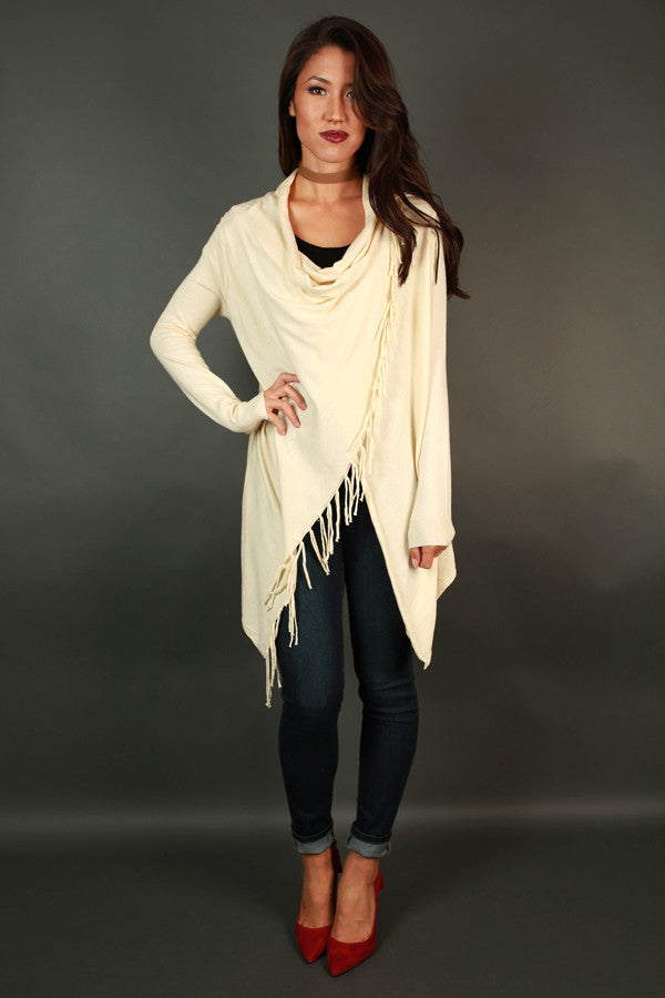 Fall Retreat Cardigan in Cream