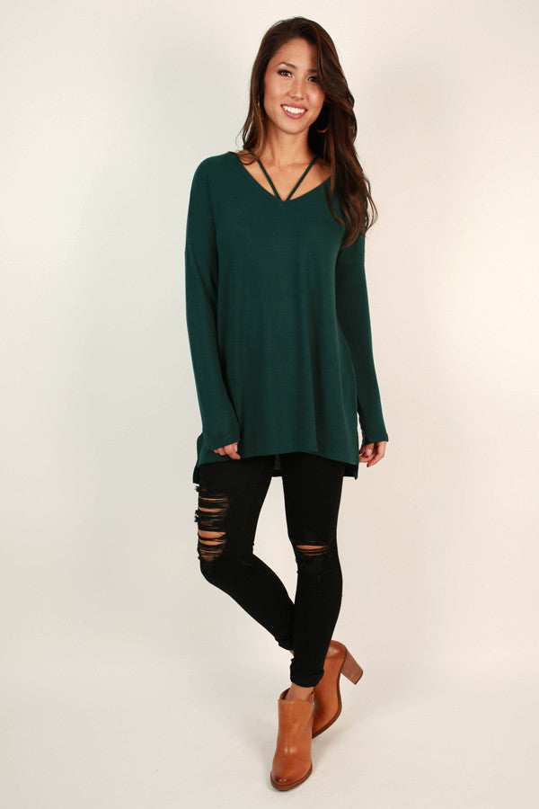Oh How Darling Tunic Top in Lush Meadow