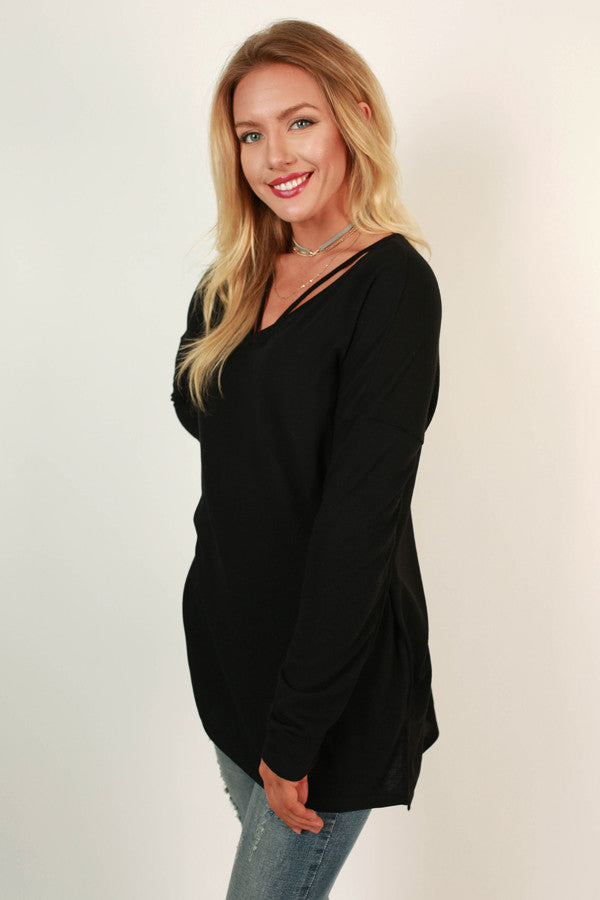 Oh How Darling Tunic Top in Black