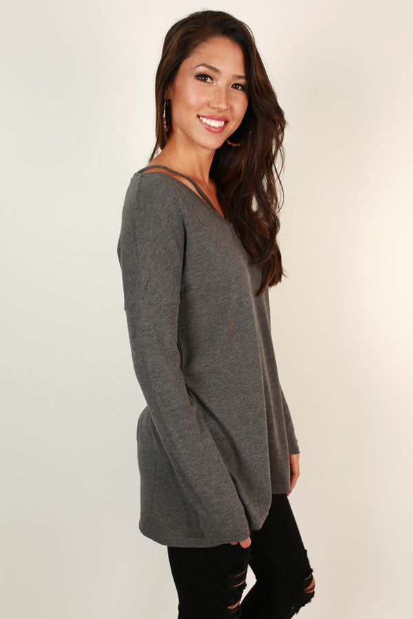 Oh How Darling Tunic Top in Fog