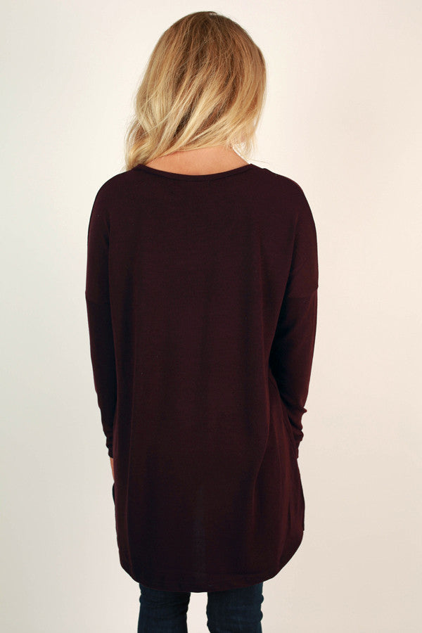 Oh How Darling Tunic Top in Windsor Wine